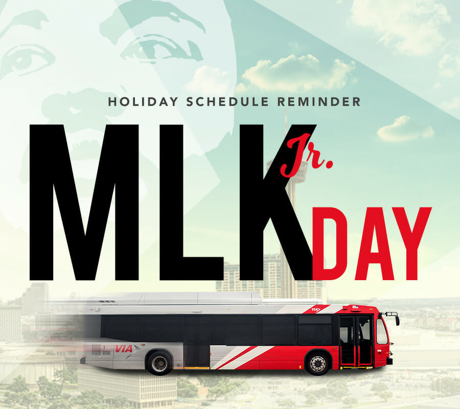 Image: Martin Luther King Jr Holiday Schedule Graphic