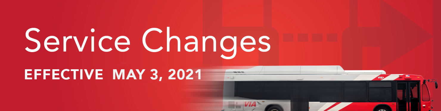 Image: Service Changes May 3, 2021